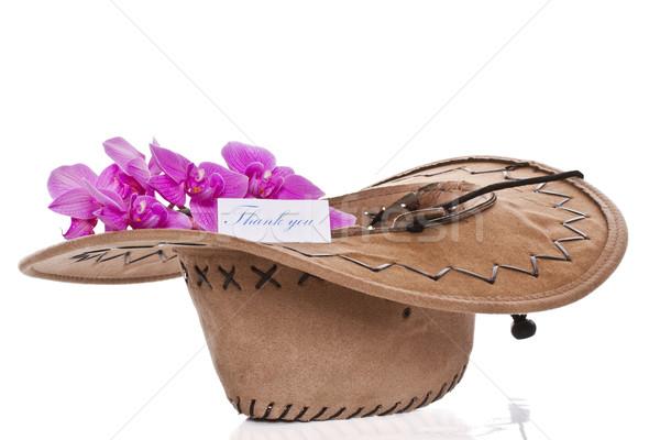 Kwiaty hat biały wiosną tle matka Zdjęcia stock © Peredniankina