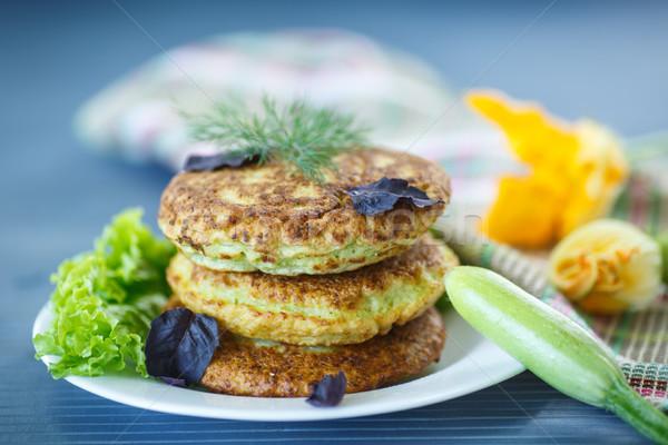 жареный цуккини продовольствие листьев завтрак овощей Сток-фото © Peredniankina
