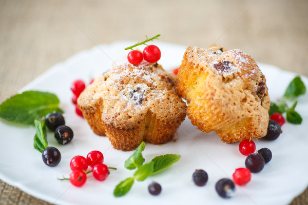 berry muffins Stock photo © Peredniankina