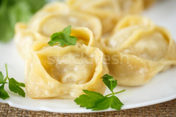 boiled manti Stock photo © Peredniankina
