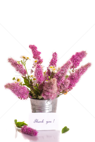 Obrigado gratidão buquê belo flores branco Foto stock © Peredniankina