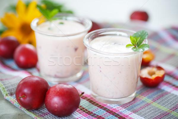 Foto stock: Ameixa · fresco · cereja · comida
