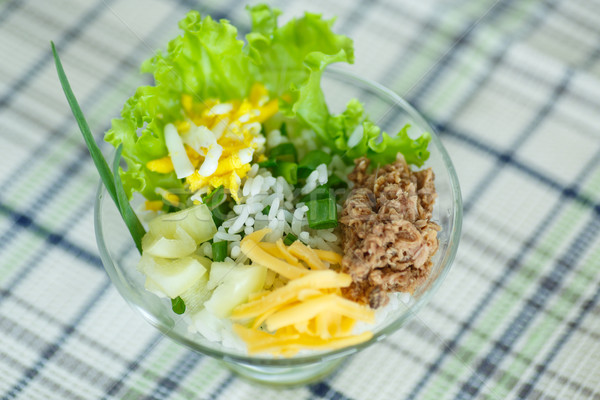 salad with rice and tuna Stock photo © Peredniankina