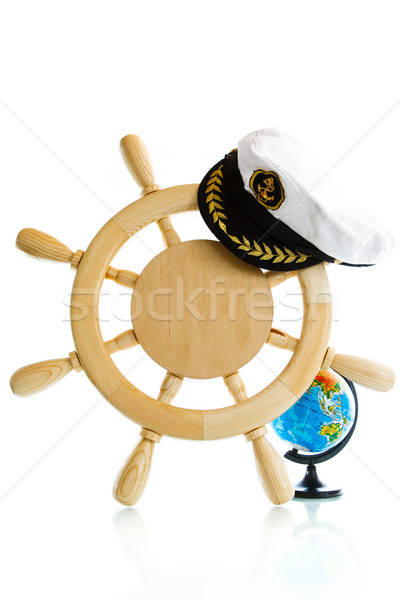 Decorative wooden steering wheel  Stock photo © Peredniankina