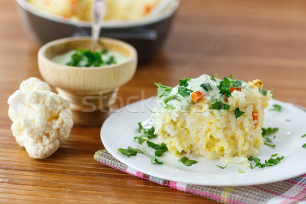 Vegetable Rice Casserole Stock photo © Peredniankina