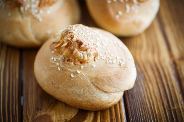 Făcut în casă pâine paine brânză Imagine de stoc © Peredniankina