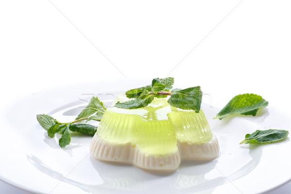 Tejgazdaság gyümölcs zselé edény fehér sajt Stock fotó © Peredniankina