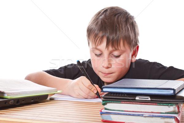 schoolchild learns lessons Stock photo © Peredniankina