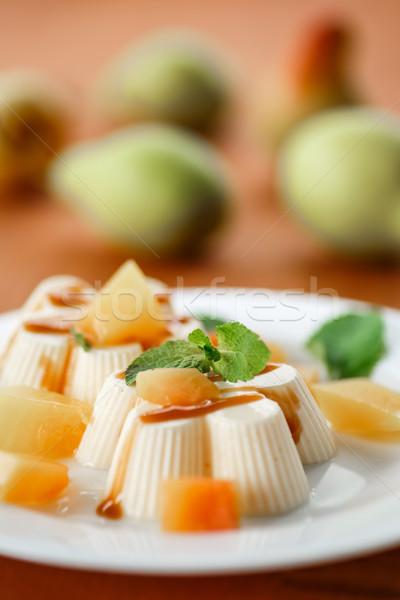 Fruit Panna Cotta Stock photo © Peredniankina