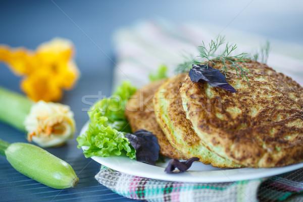 Courgette voedsel bladeren ontbijt groenten Stockfoto © Peredniankina