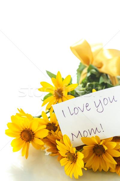 Margarida buquê amarelo branco margaridas flores Foto stock © Peredniankina
