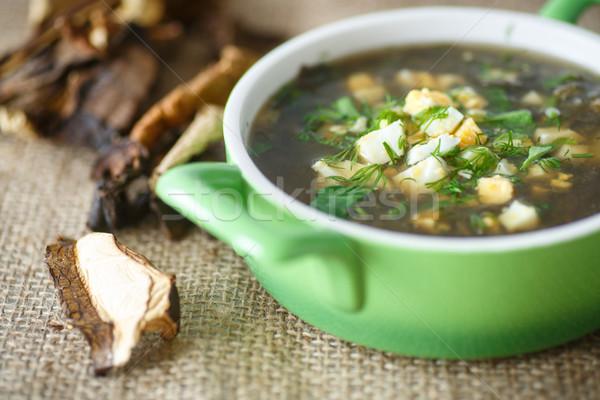 sorrel soup with dried mushrooms Stock photo © Peredniankina