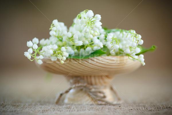 Lírios vale buquê lírio florescimento tabela Foto stock © Peredniankina