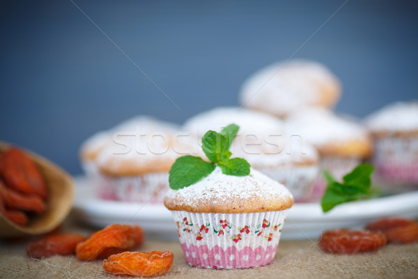 sweet muffins with dried apricots Stock photo © Peredniankina