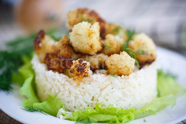 fried cauliflower with boiled rice Stock photo © Peredniankina