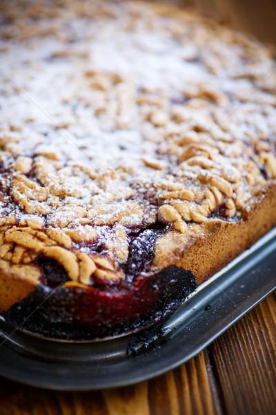 ホーム 甘い ケーキ ジャム ぱりぱり 朝食 ストックフォト © Peredniankina