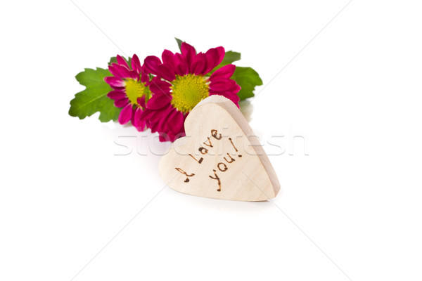 wooden heart with a declaration of love Stock photo © Peredniankina