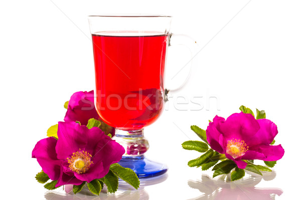 tea with rose hips with flowers Stock photo © Peredniankina