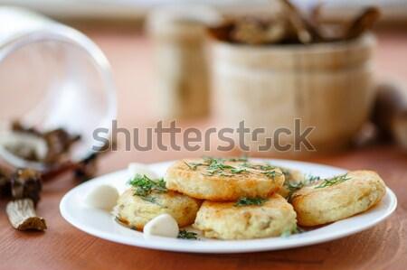 Sült karfiol étel háttér sötét zöldségek Stock fotó © Peredniankina
