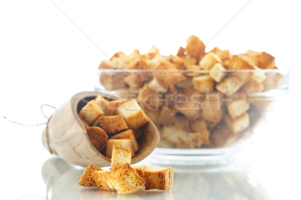 домашний жареный хлеб завтрак еды белый Сток-фото © Peredniankina