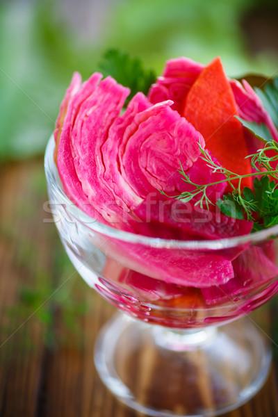кислая капуста морковь специи блюдо продовольствие еды Сток-фото © Peredniankina