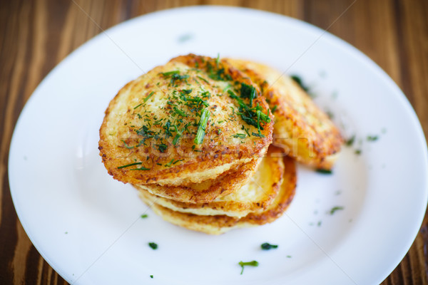 Vegetable fritters with cabbage and dill  Stock photo © Peredniankina