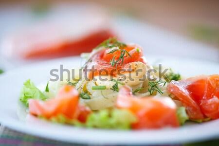 egg salad and squid Stock photo © Peredniankina
