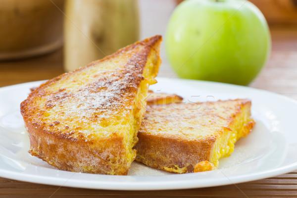 Toast zoete poedersuiker voedsel appel Stockfoto © Peredniankina
