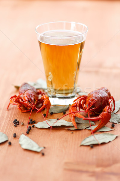 boiled crawfish with beer Stock photo © Peredniankina