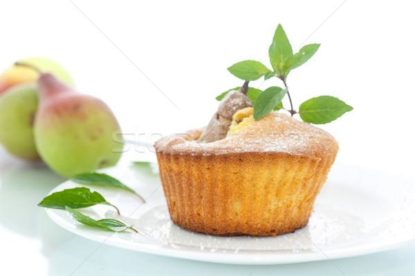 muffins with pear Stock photo © Peredniankina