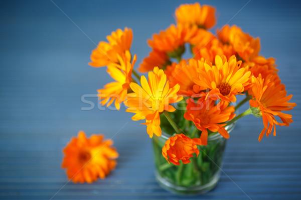 Buquê flores tabela flor folha Foto stock © Peredniankina