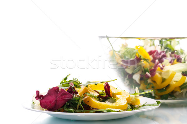 salad with arugula and pepper Stock photo © Peredniankina