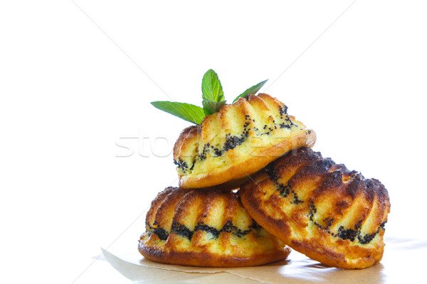 muffin with cheese stuffing poppy Stock photo © Peredniankina