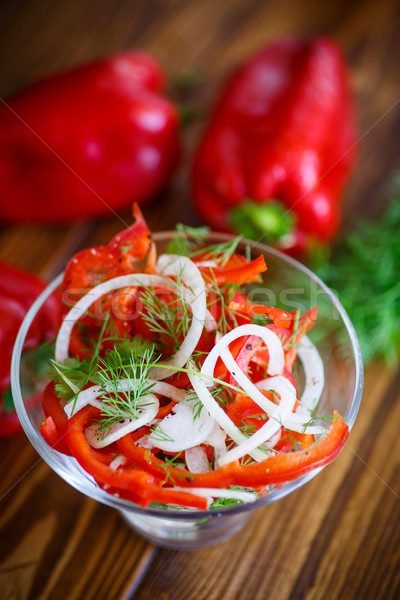 salad with fresh peppers and onions Stock photo © Peredniankina