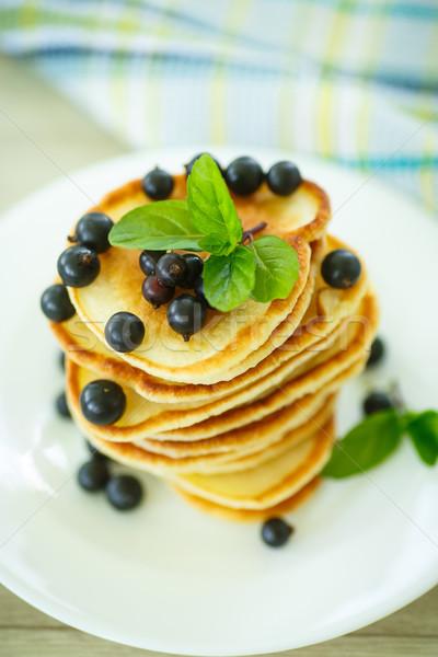 pancakes with currants Stock photo © Peredniankina