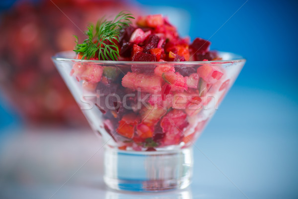 salad of boiled vegetables with beets Stock photo © Peredniankina