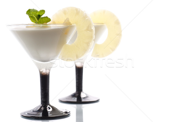 pineapple curd dessert Stock photo © Peredniankina