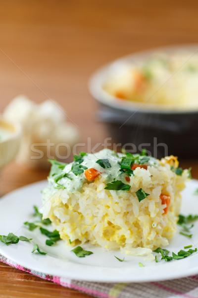 Vegetable Rice Casserole Stock photo © Peredniankina