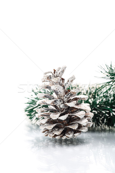 Christmas garland with pine cone Stock photo © Peredniankina