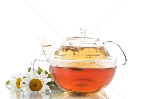 чай ромашка цветы белый природы зеленый Сток-фото © Peredniankina