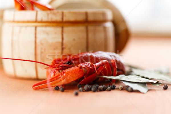 Close up of boiled crawfish Stock photo © Peredniankina