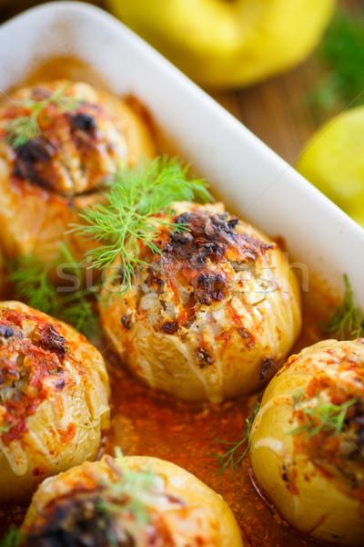 айва фаршированный мяса соус кухне Сток-фото © Peredniankina