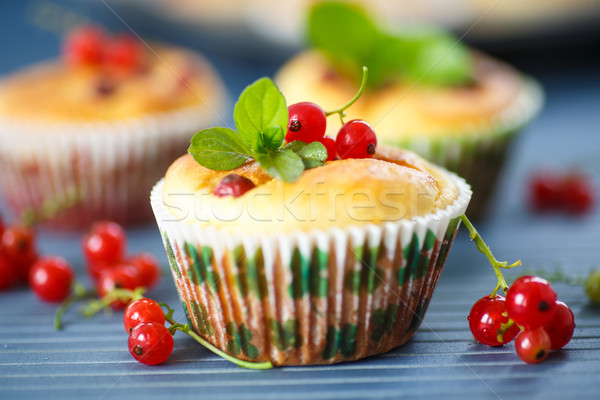 cheese muffins with red currants Stock photo © Peredniankina