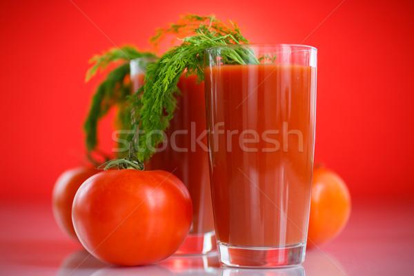 Tomatensap vers tomaten Rood gezondheid achtergrond Stockfoto © Peredniankina