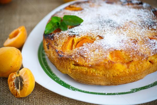 Piskóta sárgabarack porcukor étel háttér narancs Stock fotó © Peredniankina
