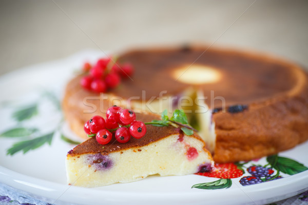 curd pudding with berries Stock photo © Peredniankina