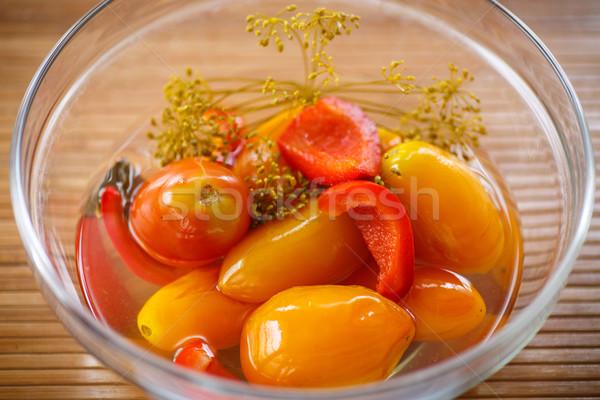 Marine domates tatlı baharatlar Stok fotoğraf © Peredniankina
