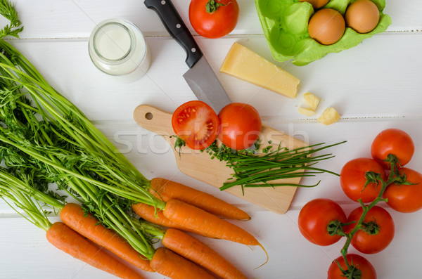 Printemps légumes préparation up tous Photo stock © Peteer