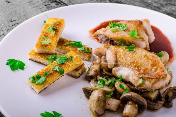Chicken breast with red wine Stock photo © Peteer