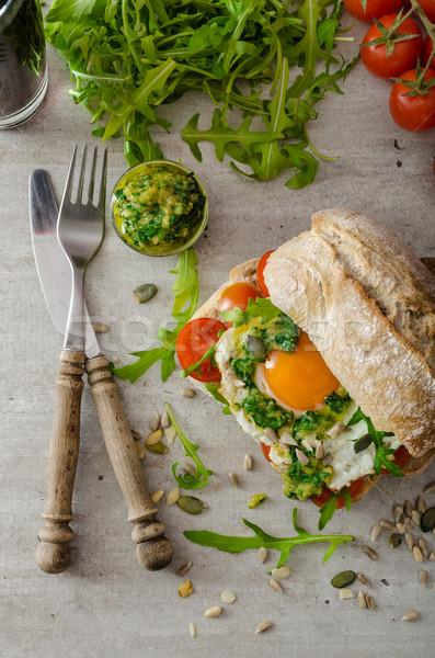 помидоров bio яйца здорового Сток-фото © Peteer
